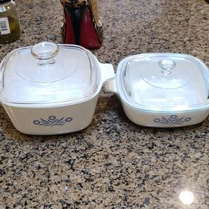 Antique corning ware dish set with lids